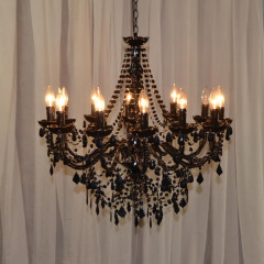 "12 Light Black Beaded   26""w x 32""h"