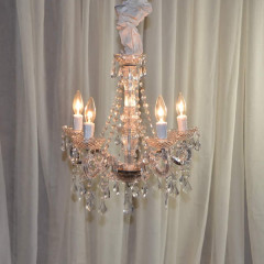 "5 Light Vintage Crystal   24""w x 24""h   $75"