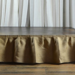 Burlap Skirting