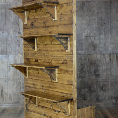 Fruitwood Divider Wall w/ Shelves