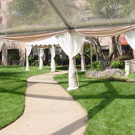 Wide Tent Pole Curtains